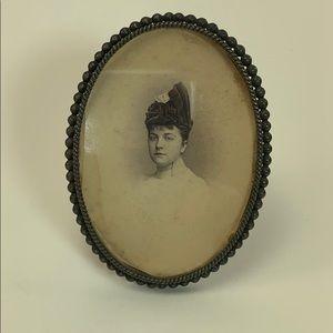 Antique sterling oval frame